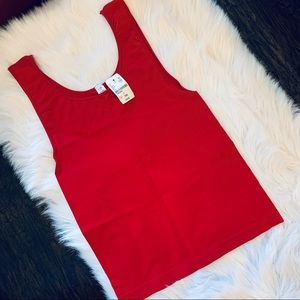 August Max Red Knit Tank